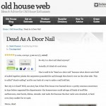 Dead as Door Nail Old House Web