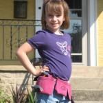 Lexi in her Pink Toolbelt