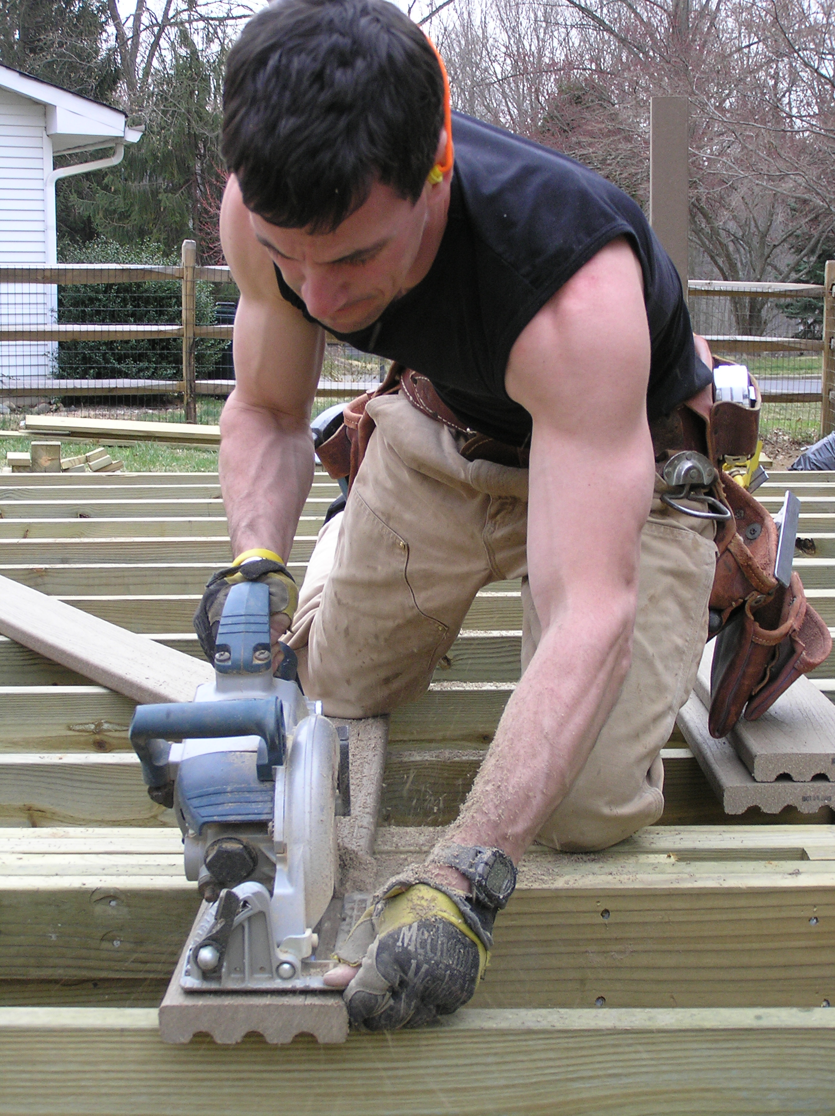 Mark building deck