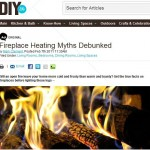 Fireplace heating myths