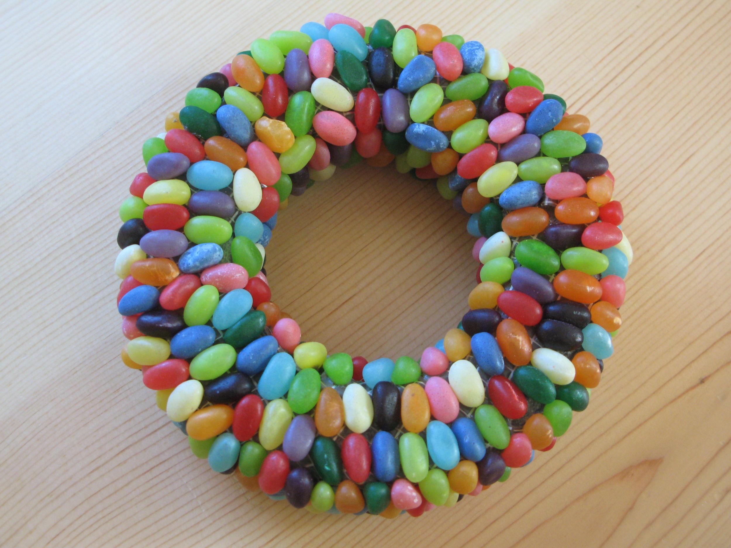 Jelly bean wreath