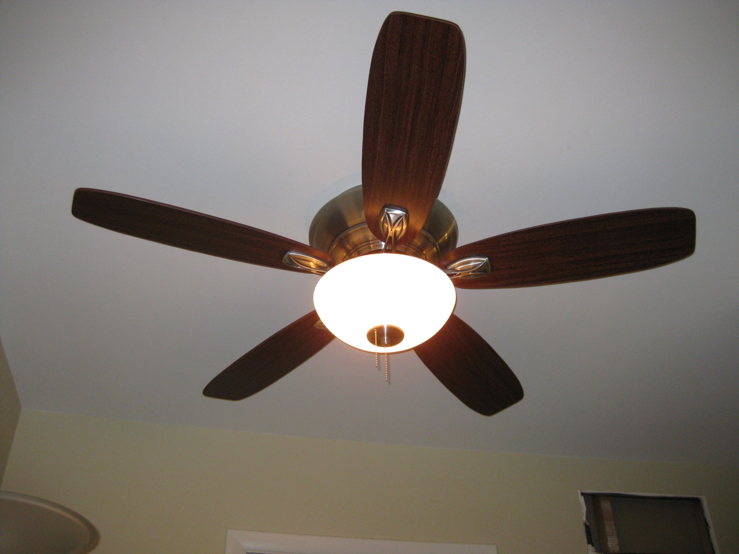 The wrong way and the right way to install a ceiling fan shiney and newand installed aloadofball Images