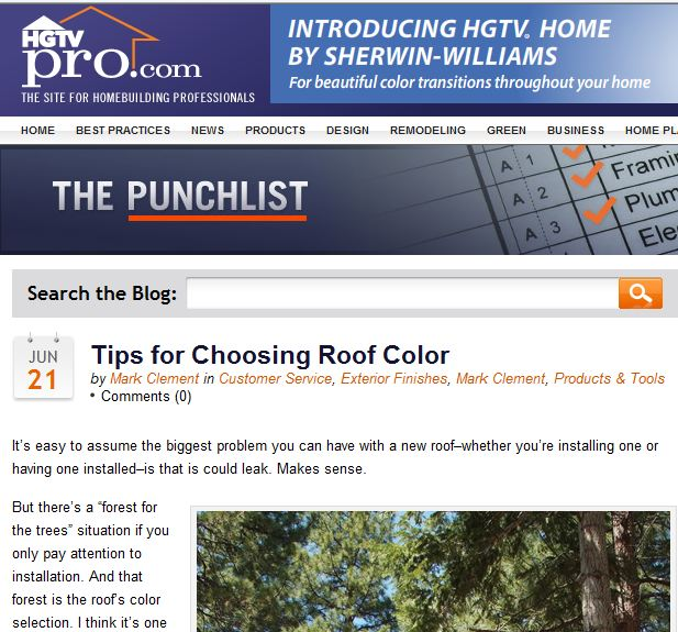Choosing roof color tips for Roofing colors how to choose