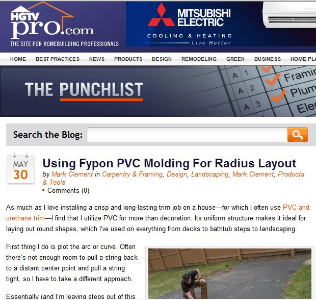 Using Fypon Pvc Molding
