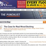 the case for real wood decking