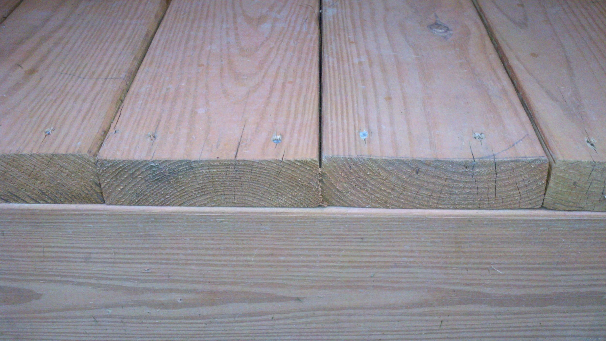 Installing deck boards rings up or down