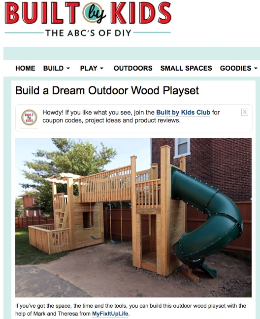 Build Your Own Outdoor Playset Plans