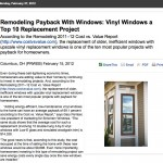 Remodeling Payback With Windows: Vinyl Windows a Top 10 Replacement Project