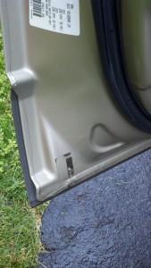 Car door drain.