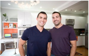Hosts of HGTV's Kitchen Cousins - John Colaneri (left) and Anthony Carrino (right)