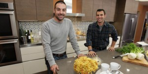 John and Anthony on Countertop Catastrophe episode of 'Kitchen Cousins'