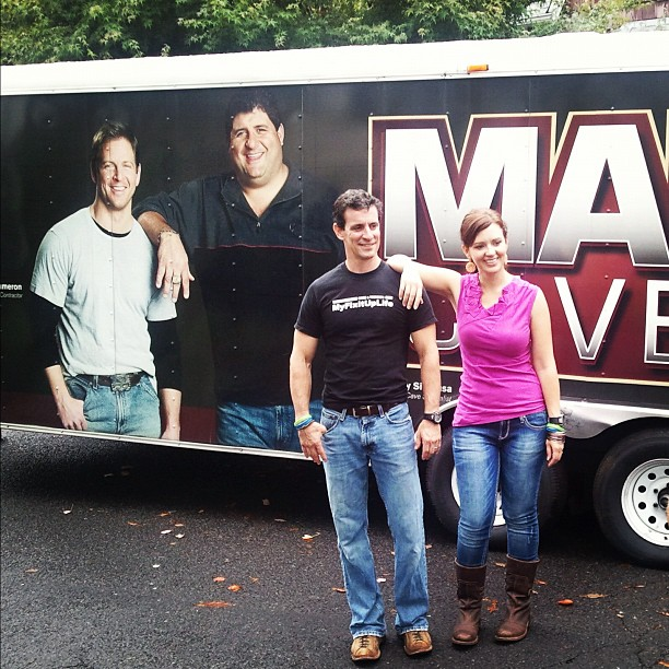 Mark and Theresa at DIY Network's Man Caves