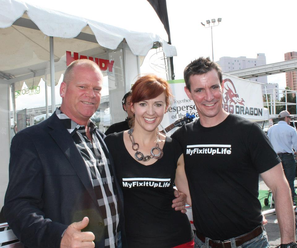 Mike Holmes with Theresa and Mark