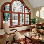 Simonton Wood-Grained, Round-Top Window