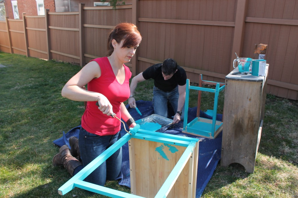 Painting nesting tables together