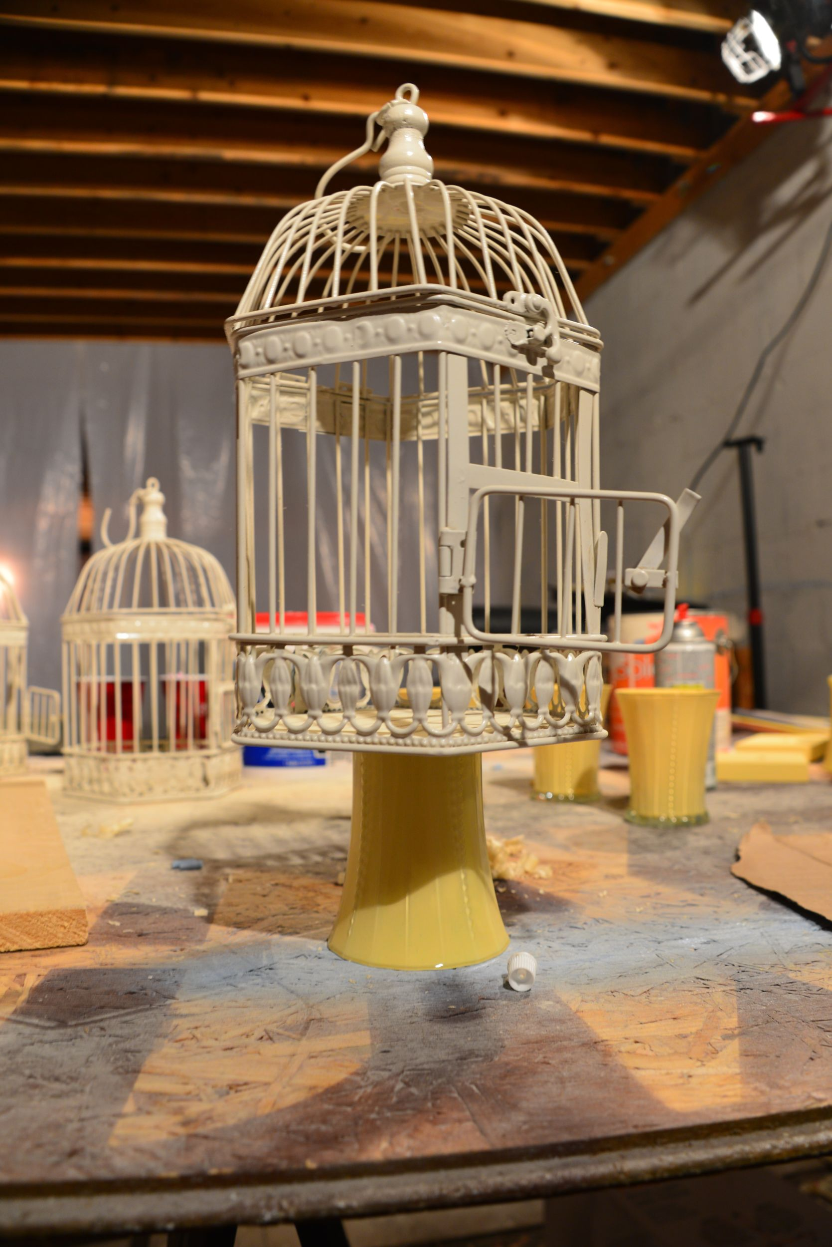 Bird cage whimsy for displaying donuts