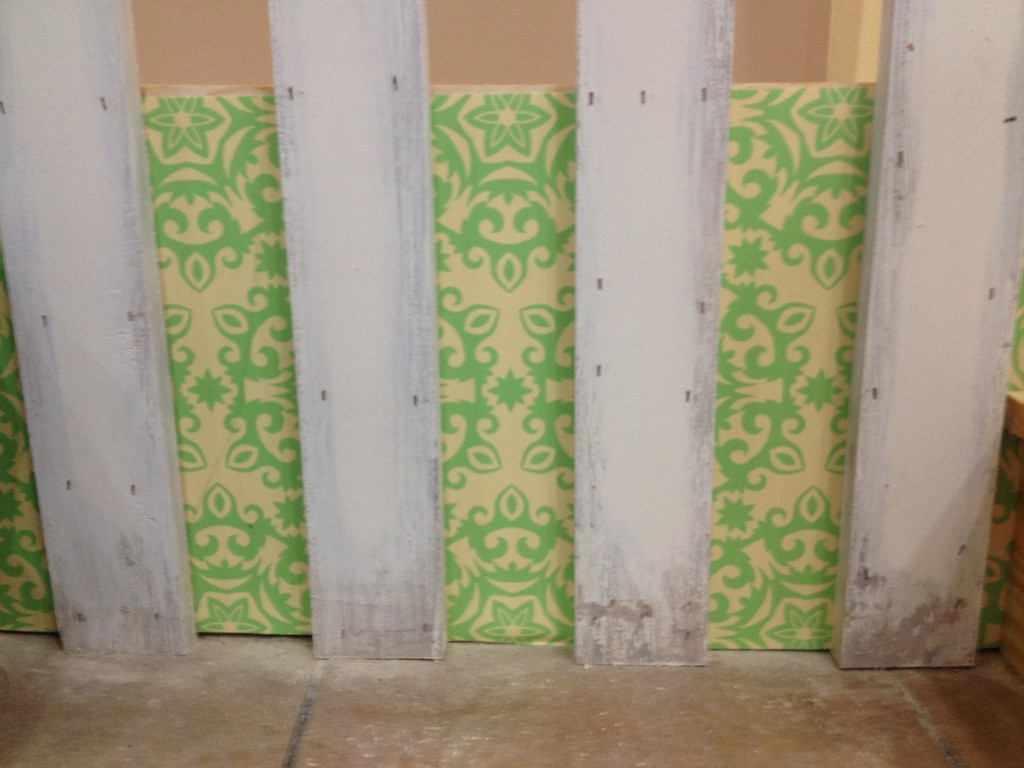 Theresa used the custom-colored wallpaper from Customized Walls in a variety of ways in Lori's for 'Save My Bakery'