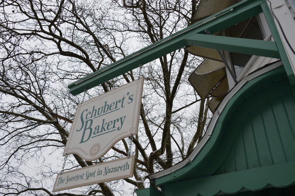 Save My Bakery AFTER: Schubert's Bakery makeover included a new sign, new branding, and color