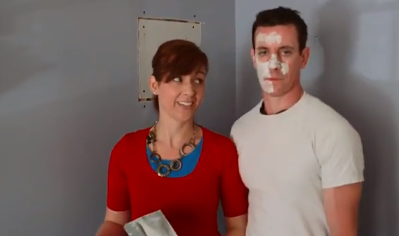 Mark & Theresa share how to tape drywall MyFixitUpLife