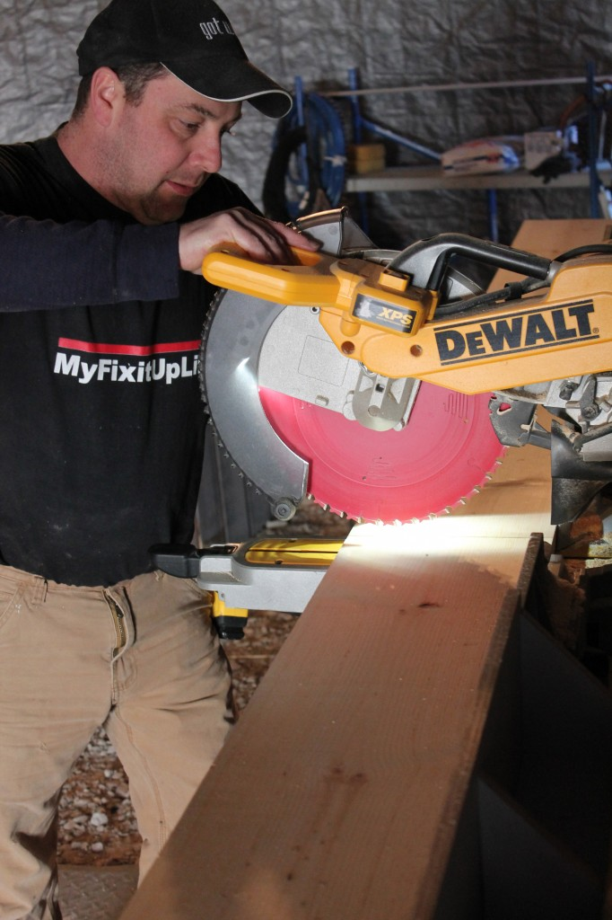 Andy Doyle is making the barn door for Lori's on 'Save My Bakery'