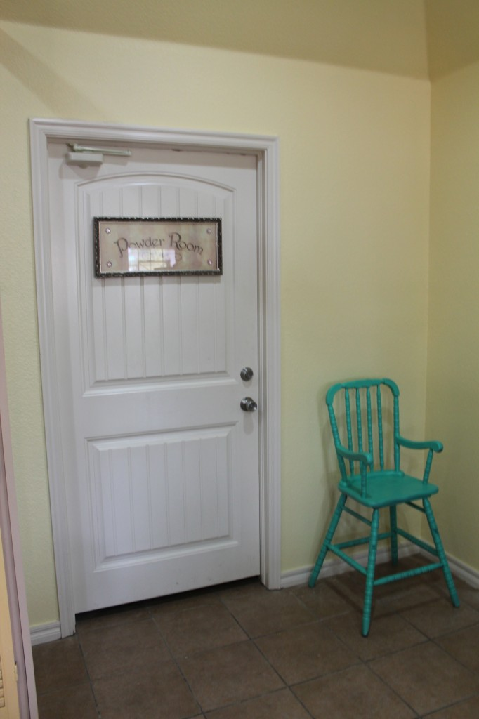 Even the high chair got a fresh coat of bright paint at Lori's.