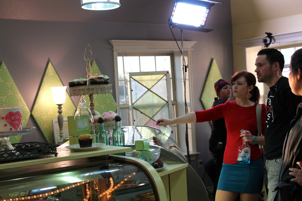 Theresa goes over the final touches in the bakery before Lori and her team see the makeover.