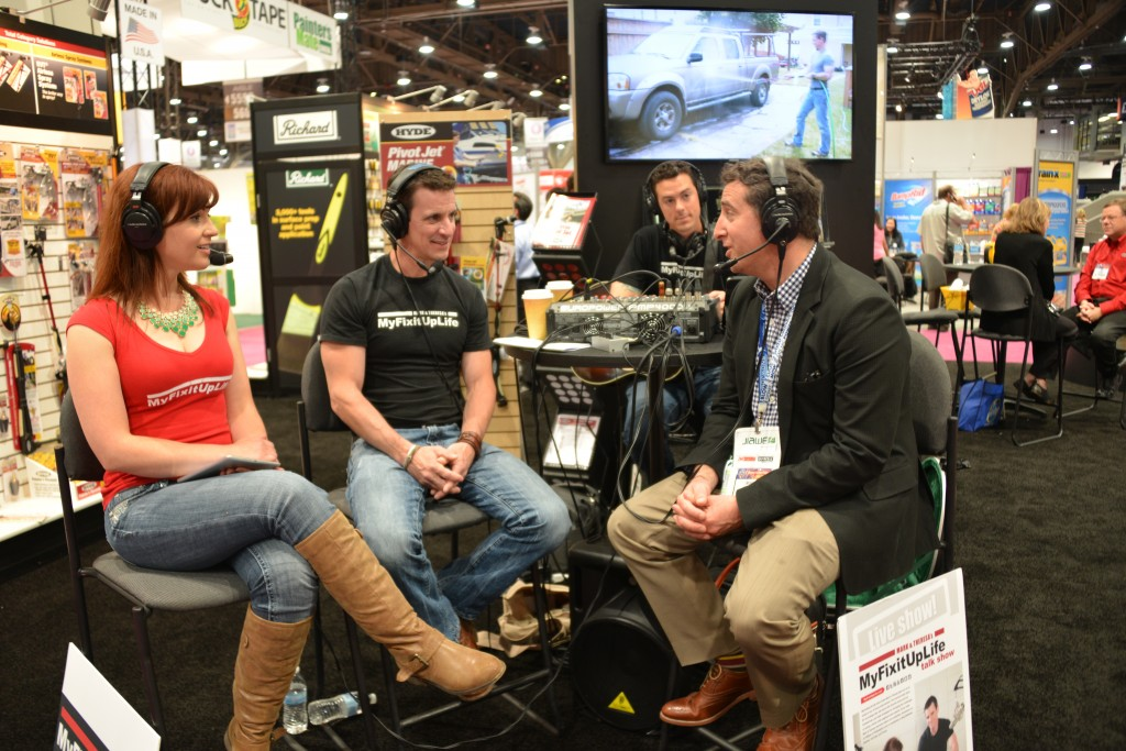 MyFixitUpLife's Mark and Theresa with Consumer Reports' Michael DiLauro at the National Hardware Show
