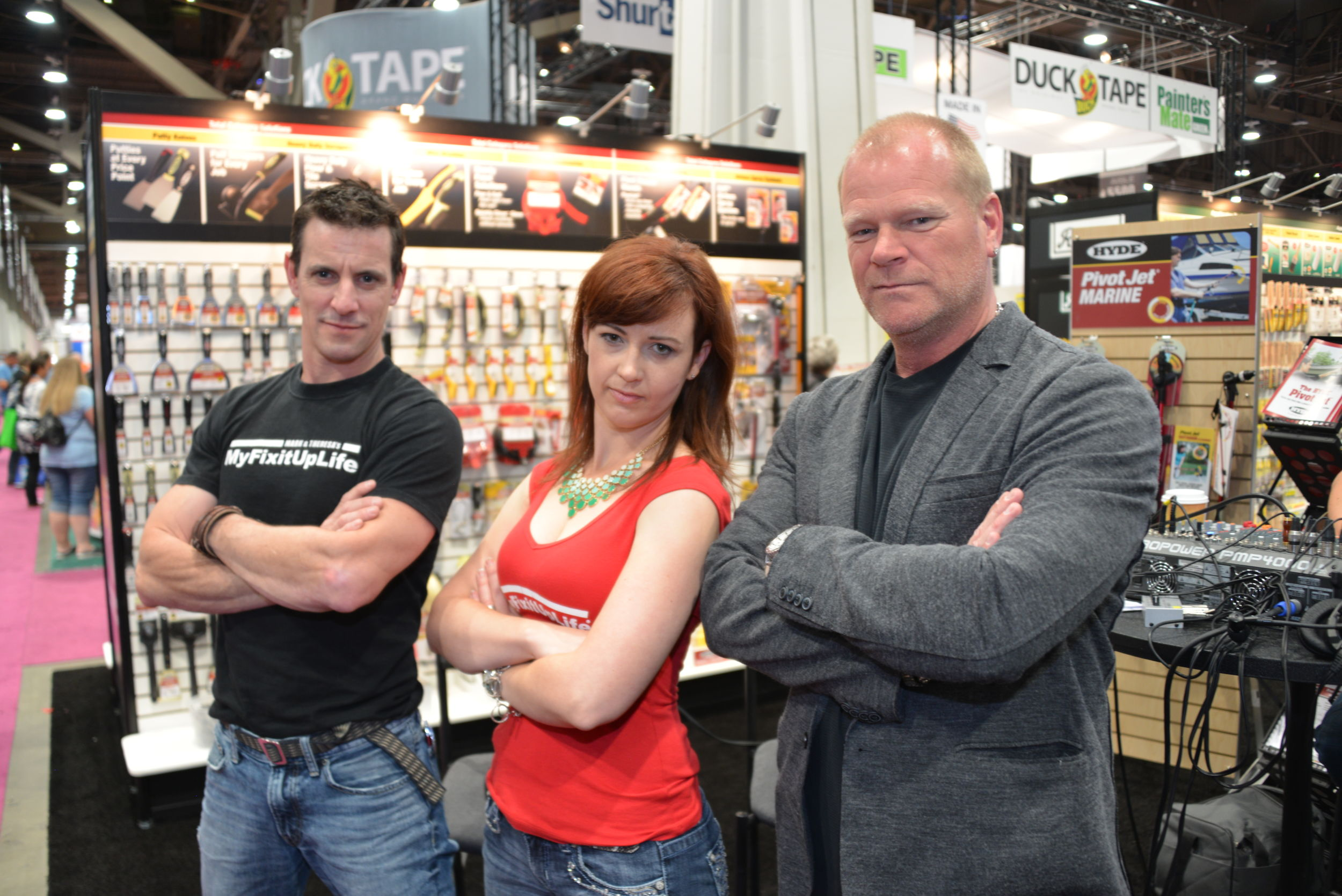 Myfixituplife S Mark And Theresa With Mike Holmes At The National Hardware Show