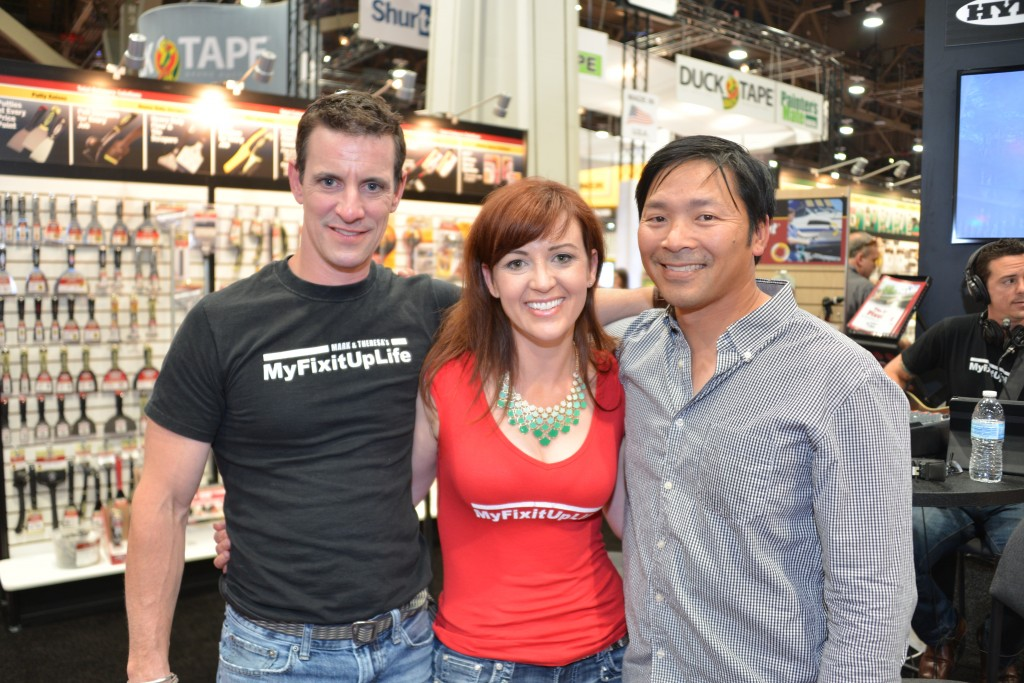 MyFixitUpLife's Mark and Theresa with Tim Dahl from Built by Kids at the National Hardware Show