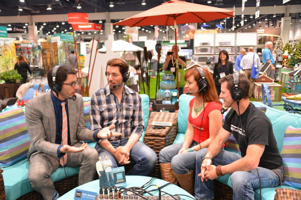 HGTV's 'Property Brothers' Drew and Jonathan Scott talk about their new Scott Living collection with MyFixitUpLife's Mark and Theresa.