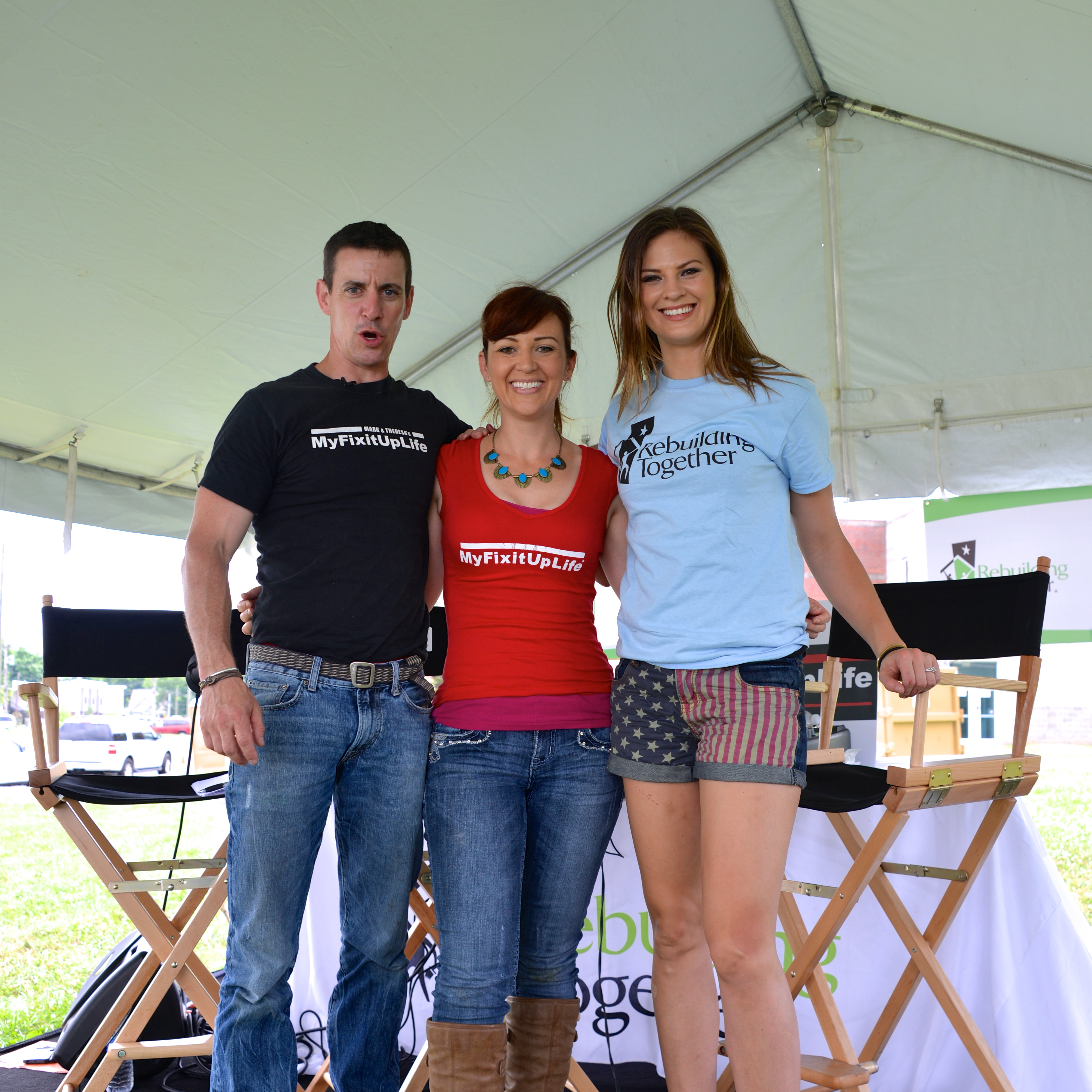 Ayla Brown with Mark and Theresa at Building a Healthy Neighborhood in Nashville.