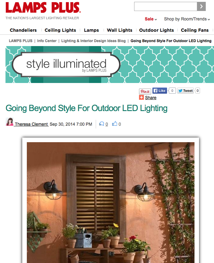Going Beyond Style For Outdoor LED Lighting