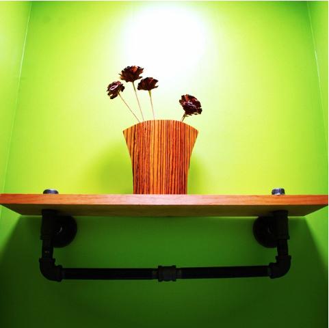 DIY decor: Steampunk bathroom shelf – MyFixitUpLife