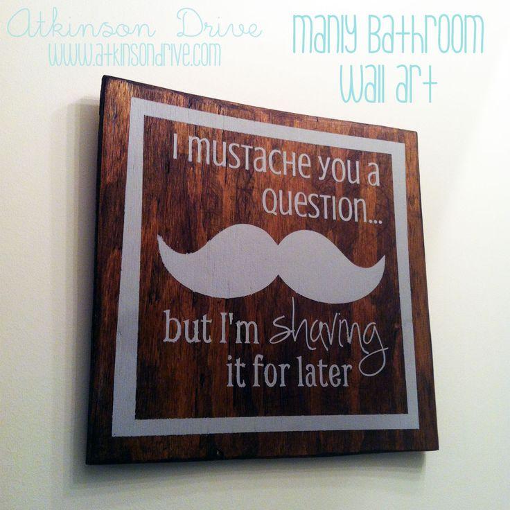 I Mustache You A Question Wall Art