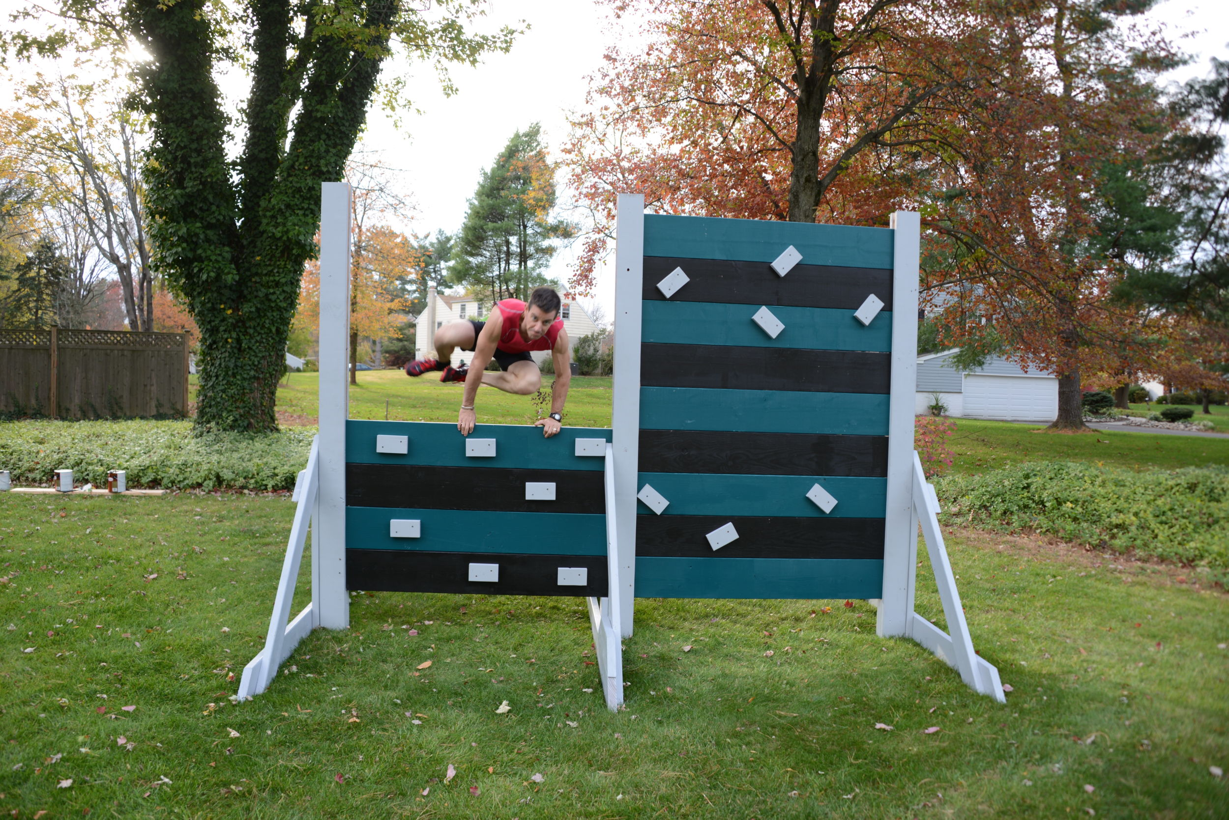 Philadelphia Eagles Obstacle Wall with Glidden Team Colors