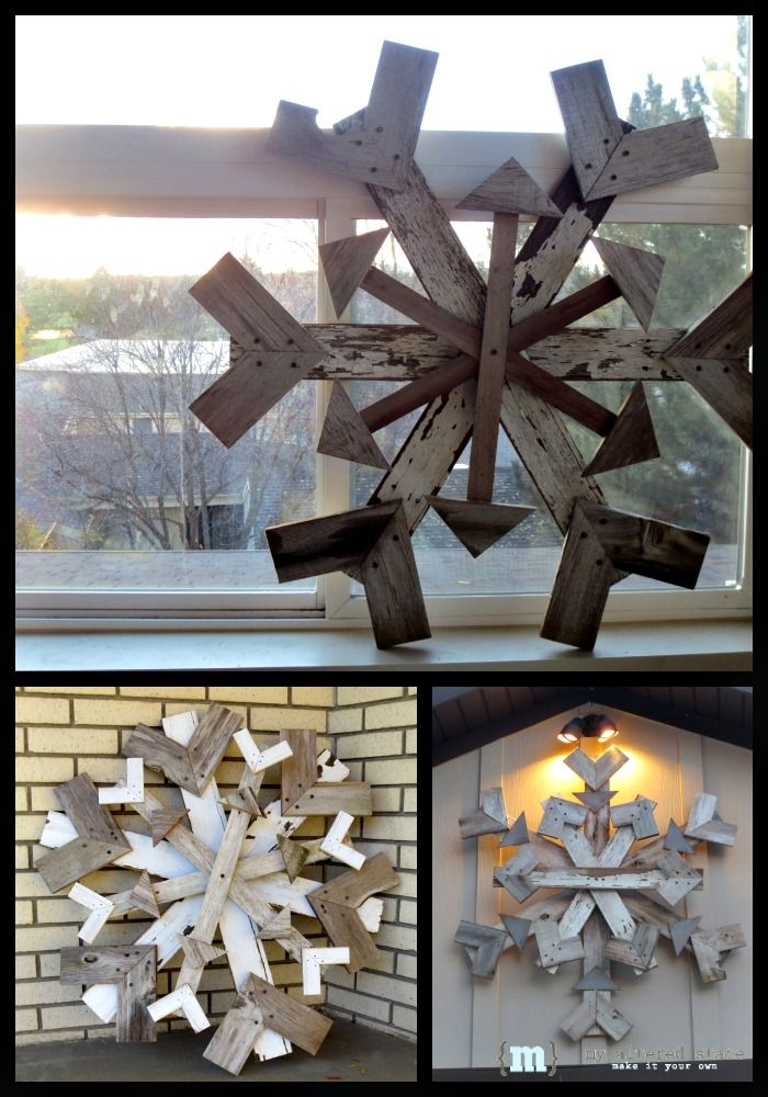 5 ways to make it a diy holiday - Scrap wood decorated house ...