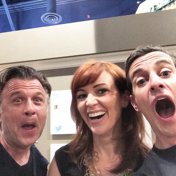 Mark and Theresa are taking a selfie with DIY Network's Stephen Fanuka