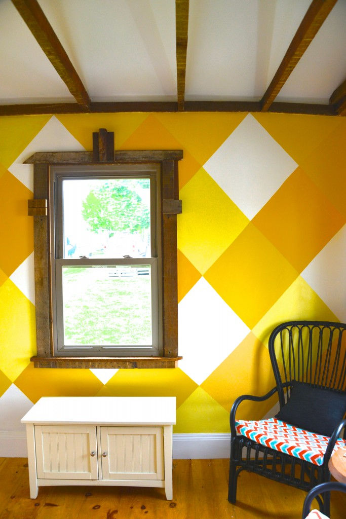 Sunroom makeover MyFixitUpLife Painting patterns