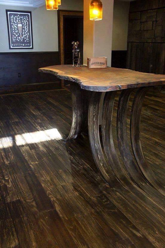 Amazed and Amused - Wood Table -