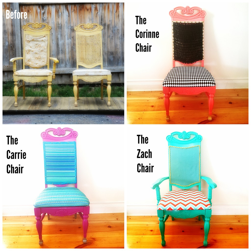 ReStore makeover chairs before and after