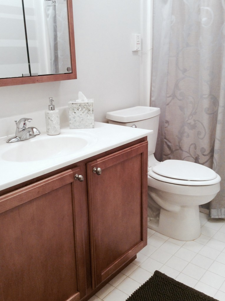 Glamourized a small bathroom makeover for my mom for Bathroom things