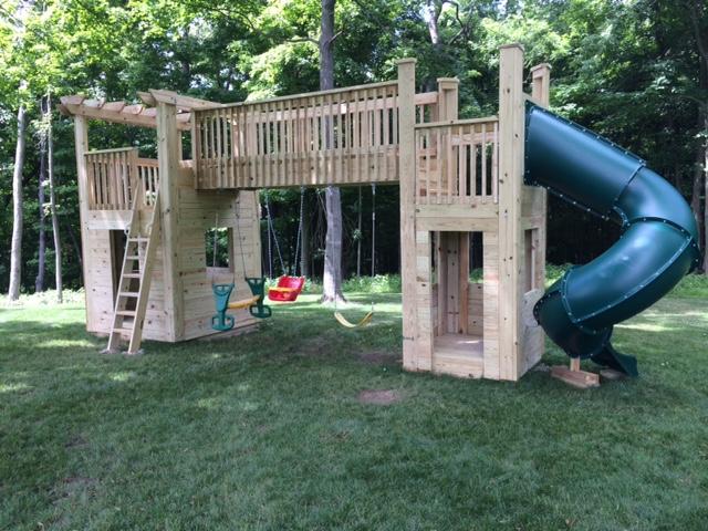Your DIY! Trevor from Heath, Ohio built a backyard playset