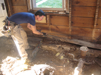 Remove a rotten sill plate - MyFixitUpLife - Extreme How-To