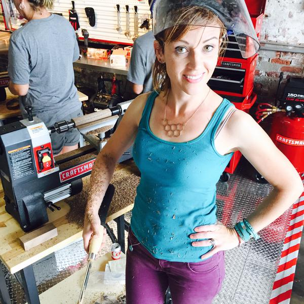 Theresa is enjoying her lathe time. What's your dream workshop?