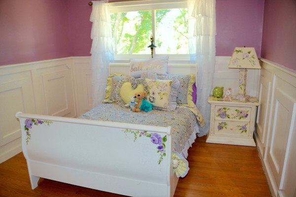 Before, this bedroom had no personality. And the little girl explodes with charisma. My challenge was to make the bedroom fit the girl.