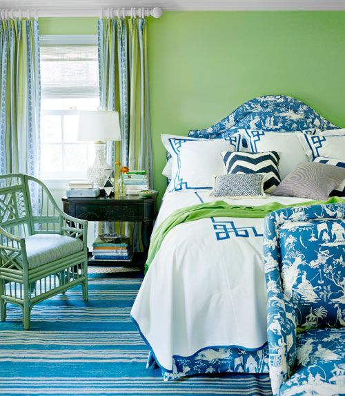Greens And Blues Are Perfect In The Bedroom An Analogous Color Scheme Like This