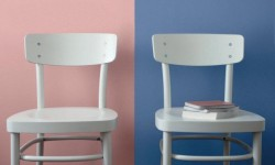 Rose Quartz or Serenity? The Josef Albers way of looking at color shows how the two hues can change the look of a simple chair.