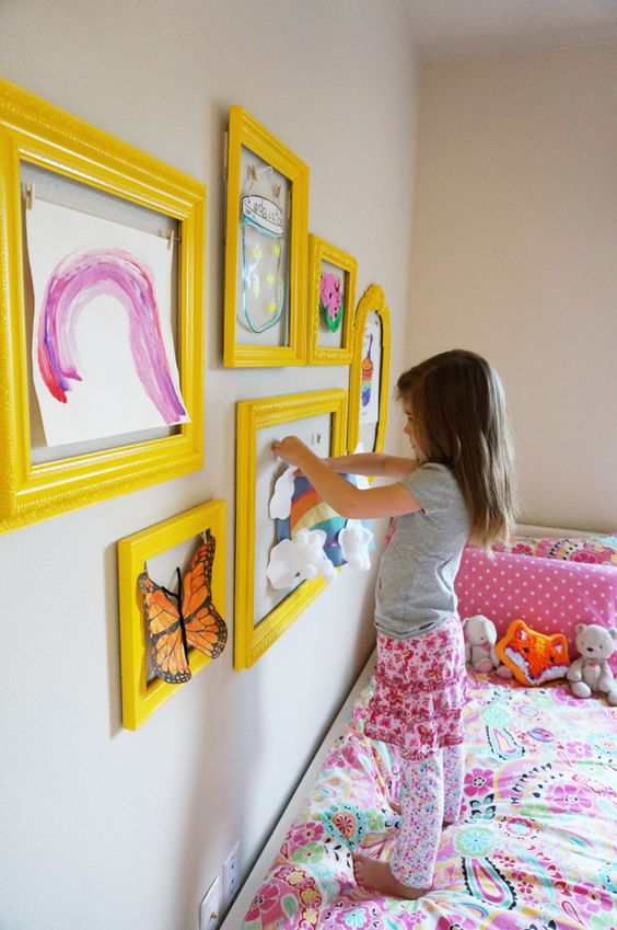 Why not create an art gallery that's easy for your kid or teen to curate?