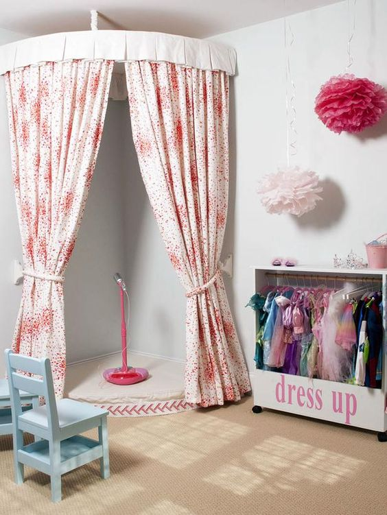 It's easier than you think to create a little stage in your kid or teen room.