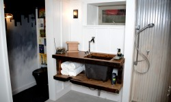 2016_MyFixitUpLife_Man Cave Basement bathroom renovation_Reclaimed wood sink_Kohler_Wood Naturally